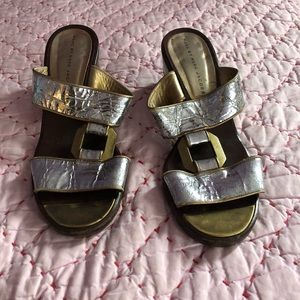 Marc by Marc Jacobs Silver & gold sandals